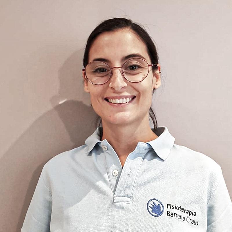 Rocío Pruna fisioterapeuta en Barrena Craus fisioterapia